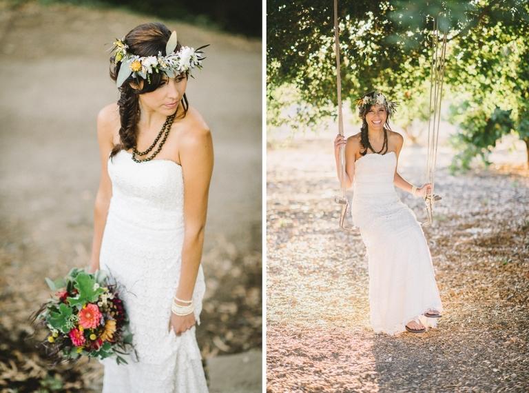 Dana Powers Barn Bride on Swing