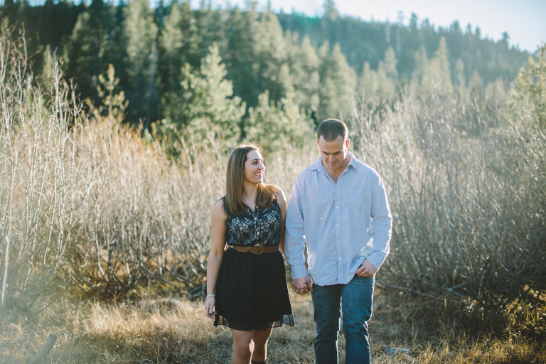 Sierra Nevada Mountain Engagement Photography