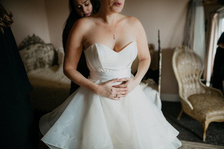 Bride Getting Ready at Dana Powers House Wedding