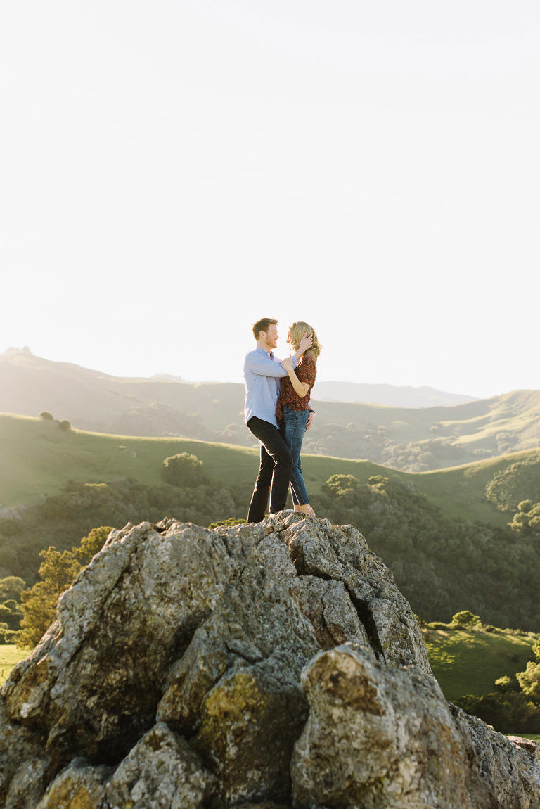 Prefumo Canyon Engagement, Green Rolling Hills Engagement