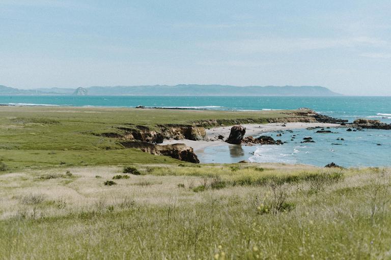 Cayucos coastline